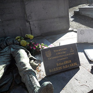 Hommage à Mathieu Bodson, au cimetière de Jupille