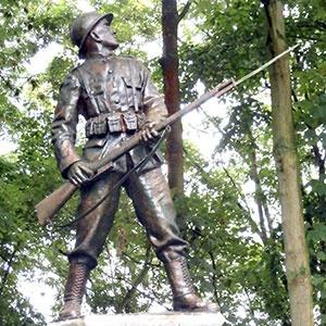 Soldat de Wandre, rue Bois-les-Dames à Wandre