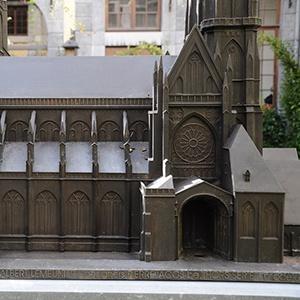 Maquette monumentale de l'ancienne Cathédrale Saint-Lambert