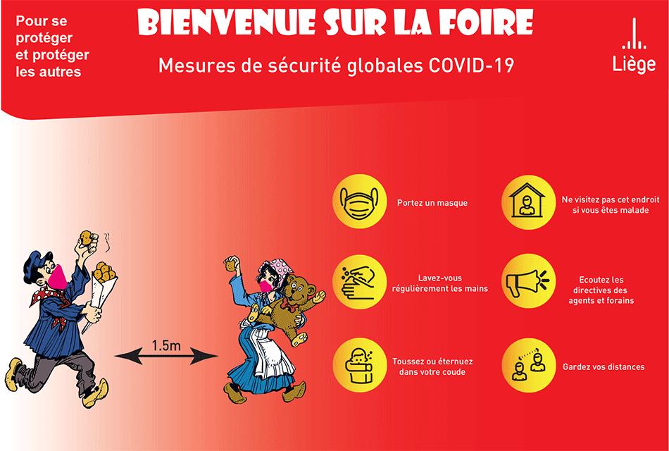 Mesures sanitaires Covid Foire d'Octobre 2021