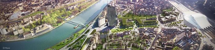 Esplanade des Guillemins et son périmètre de remembrement urbain