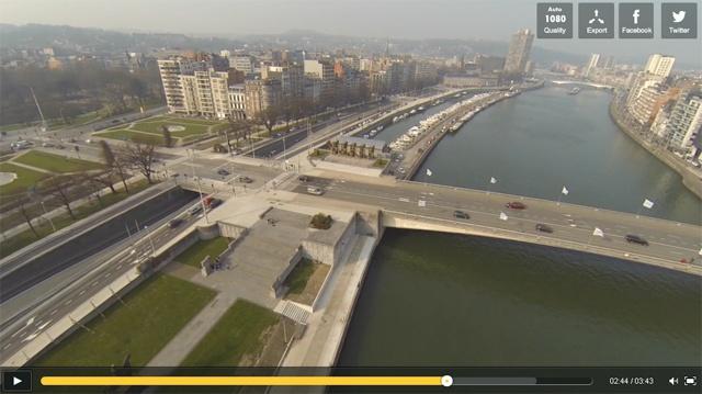 Vidéo des travaux d'aménagement des quais de Meuse