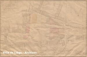 Plan approuvé le 29 mai 1822. Aménagement de la place Saint-Lambert.