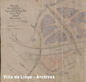 Plan approuvé le 30 juin 1908. Lotissement de la plaine des Vennes après l'exposition universelle de 1905 (extrait).
