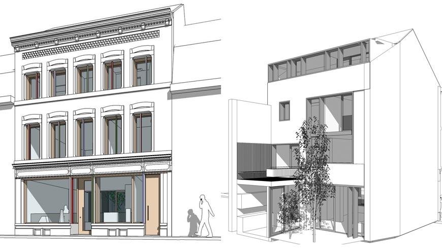 Rue Saint-Léonard N°163 - esquisse