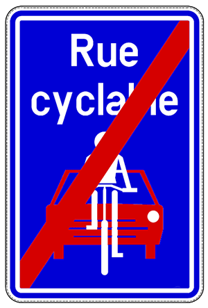F113 - Fin de rue cyclable