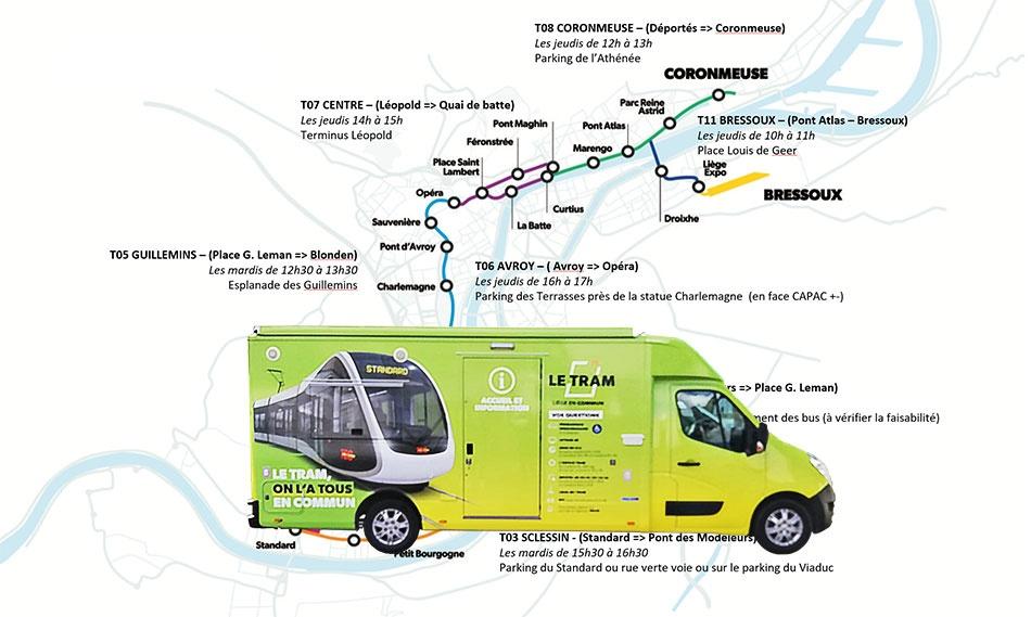 Camion info-tram