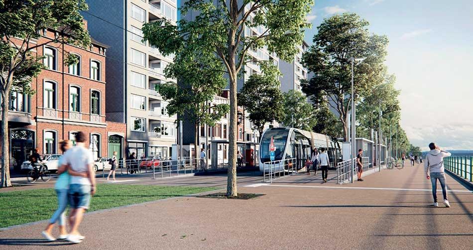 Place des Déportés et Coronmeuse