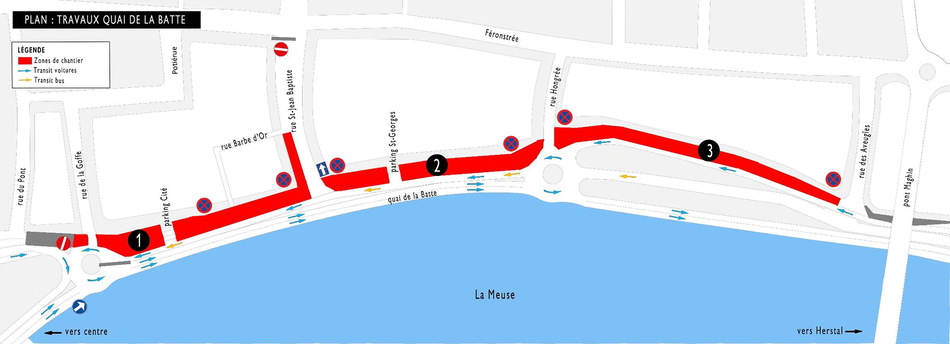 Travaux du tram sur la Batte du 21 sept au 31 déc 2020