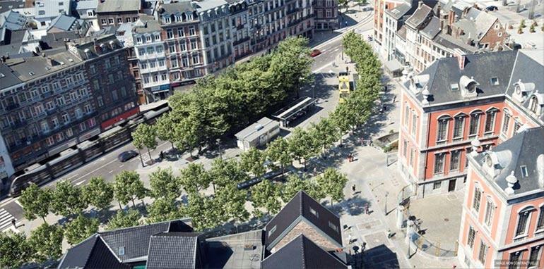 Rails du tram rue Léopold