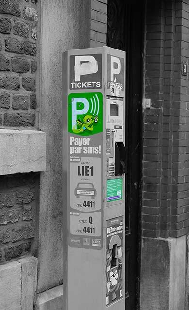 Zone de stationnement verte