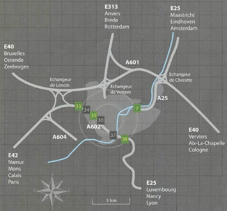Carte d'accès à liège