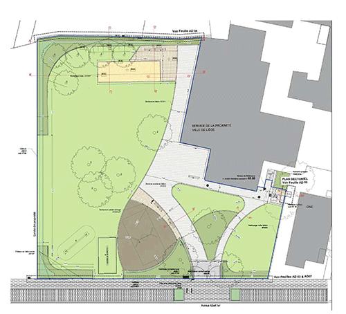 Plan du parc - Avenue Albert 1er