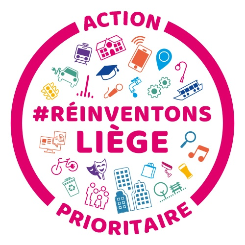 Logo Reinventons Liege   label Action prioritaire couleurs