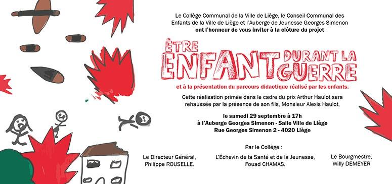 invitation invitation enfant guerre