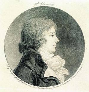 Théroigne de Méricourt  -Par Jean Fouquet et Gravé par Gilles-Louis Chrétien, inventeur du physionotrace