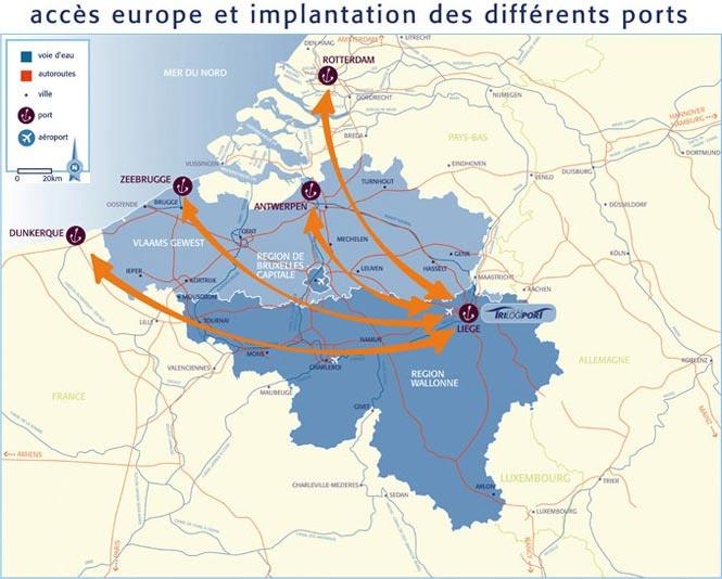 Liège par voies navigables